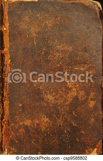 antiga, cobertura, bíblia - csp9588802