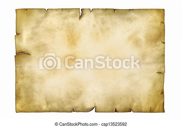 antiga, manuscrito - csp13523592