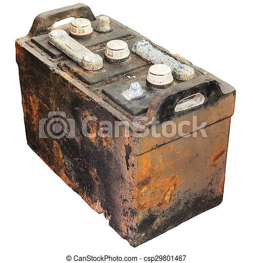 antigas bateria car isolado enferrujado branca antigas bateria car isolado enferrujado. Black Bedroom Furniture Sets. Home Design Ideas