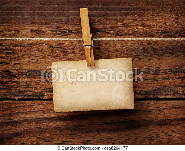 antigas, cartão postal, foto, madeira, cavilha, roupas - csp8264177
