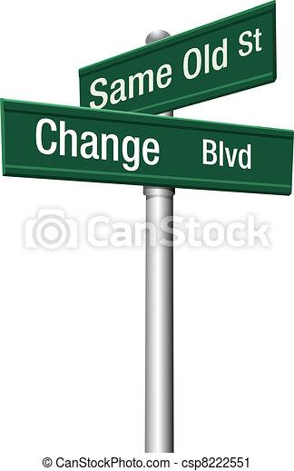 antigas, decisão, mesmo, rua, escolher, ou, mudança - csp8222551