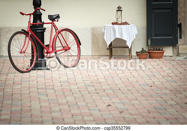 antigas, europe., bicicleta, stree, budapest - csp35552799