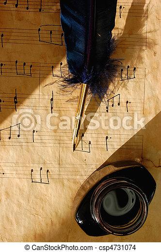 antigas, folha música - csp4731074