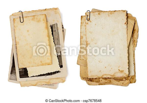 antigas, foto, isolado, fotografias, fundo, seu, grupo - csp7678548