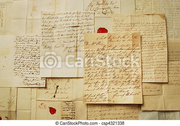 antigas, horizontais, letras - csp4321338