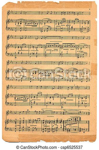 antigas, música folha - csp6525537