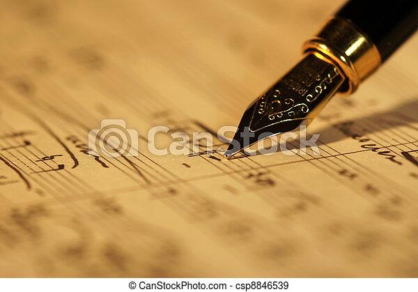 antigas, música folha - csp8846539