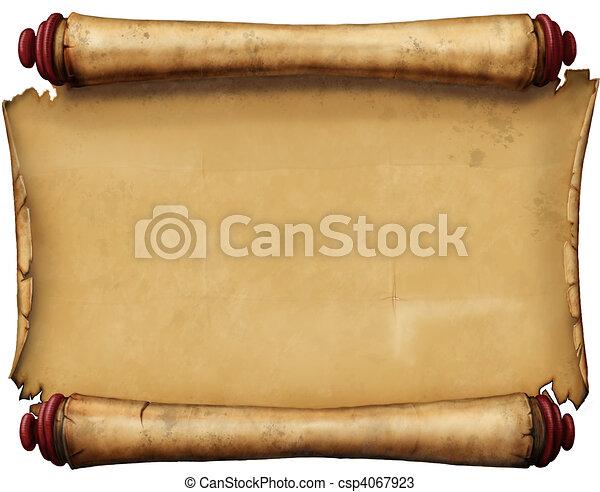 antigas, manuscrito - csp4067923