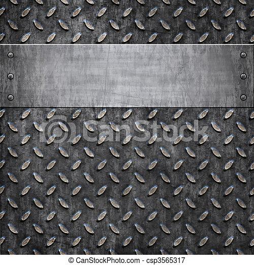 antigas, metal, fundo, textura - csp3565317