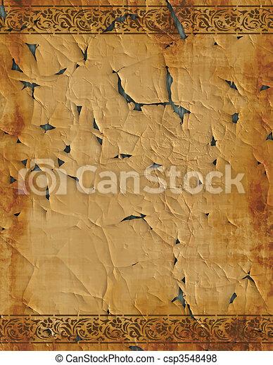 antigas, pergaminho - csp3548498