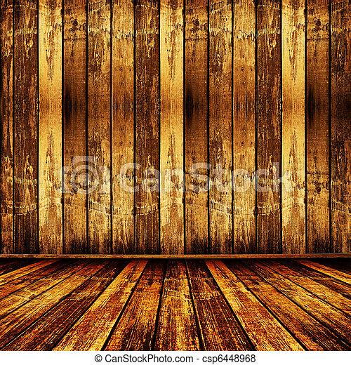 antigas, sala, beleza, papel parede, gasto, anterior - csp6448968