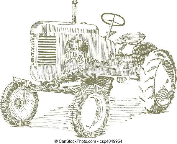 antigas, trator - csp4049954