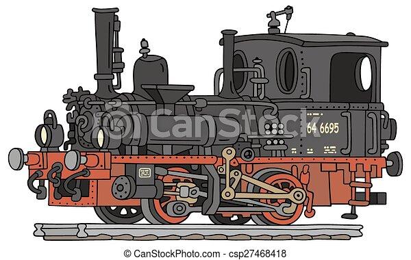 antigas, vapor, locomotiva - csp27468418