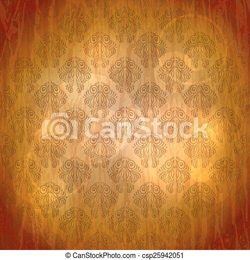 antigas, vindima, seamless, textura, papel, padrão - csp25942051
