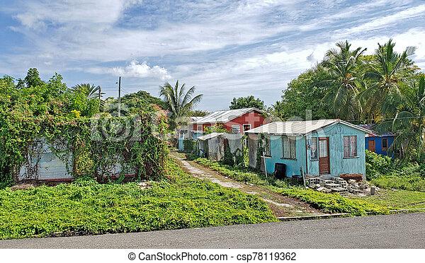 antigua, heime, typisch, barbuda - csp78119362