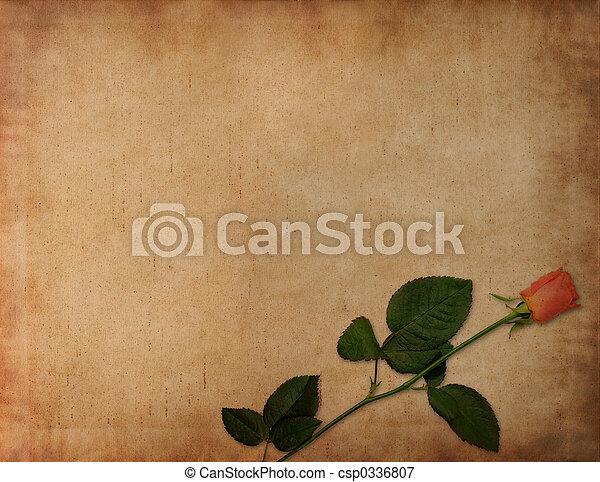 antiguo, adore carta, plano de fondo - csp0336807