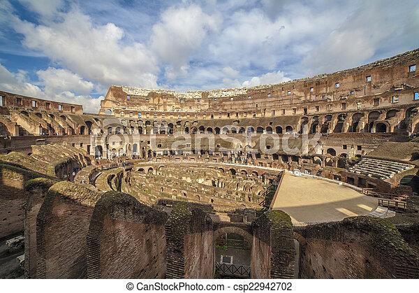 Antiguo Coliseo Roma Italia Roma Antigua Coliseo Serie