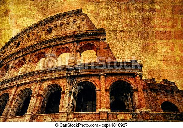 Antiguo Coliseo Textura Roma