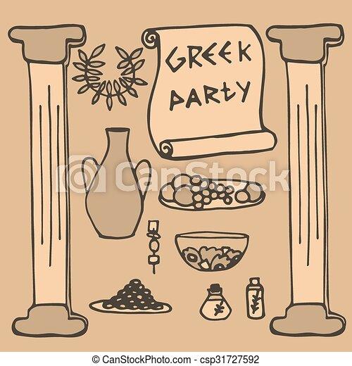 Antiguo griego ideas elementos grecia fiesta - Decoracion griega ...