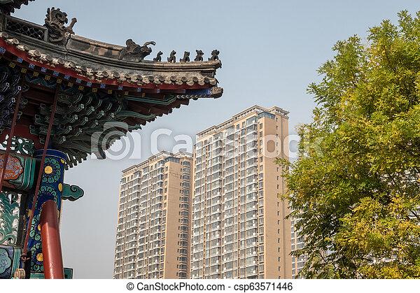 Antiguo templo confucio en Dongmen li tianjin - csp63571446