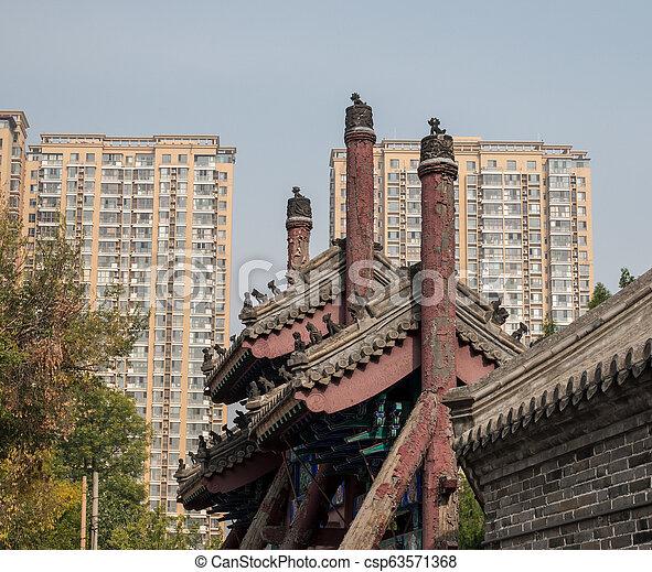 Antiguo templo confucio en Dongmen li tianjin - csp63571368