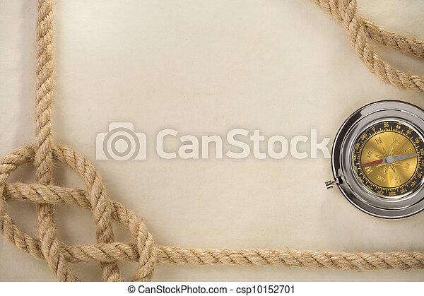 Cuerdas y brújulas en los antiguos antecedentes de papel - csp10152701