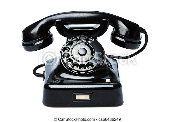antik, öreg, telefon., retro - csp6436249