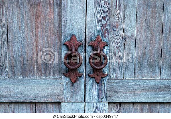 antik, ajtó - csp0349747