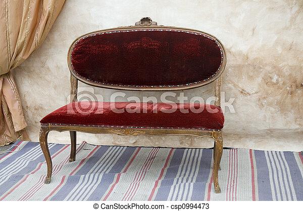 antik, bírói szék - csp0994473
