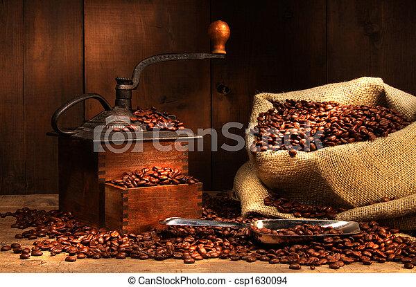 antik, bab, kávécserje grinder - csp1630094