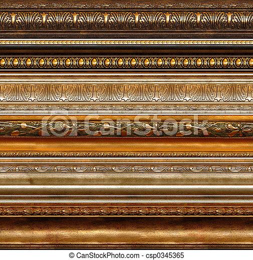 antik, falusias, dekoratív, keret, példa - csp0345365