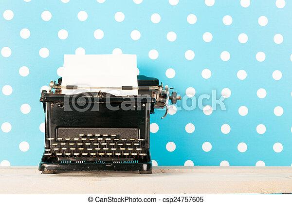 antik, fekete, írógép - csp24757605