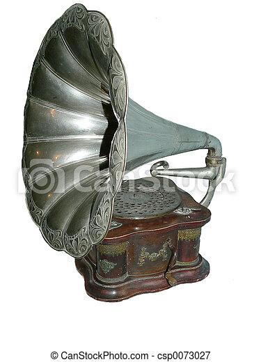 antik, gramofon - csp0073027