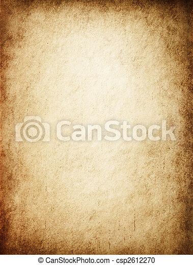 antik, yellowish, pergament - csp2612270