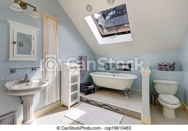 Antikes , badezimmer, wanne, bad. Blaues, antikes ,... Bilder ...