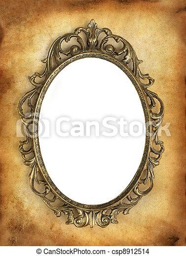 antikes , bereich, rahmen, dein, leer, weißes, bild - csp8912514