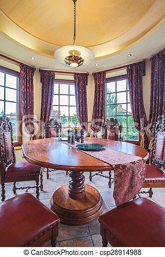 Antikes esszimmer m bel antikes zimmer essen luxus - Antikes esszimmer ...