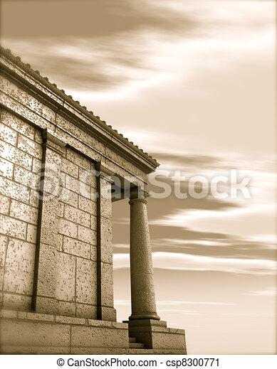 Antikes render klassisch r mische architektur denkmal for Architektur klassisch