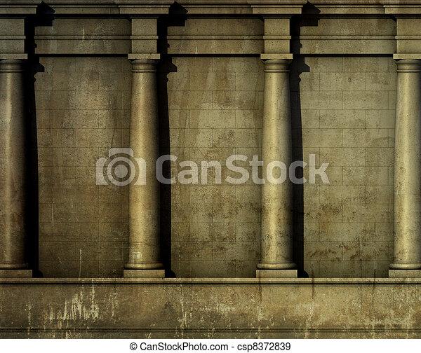 Antikes render klassisch wand griechischer r mische for Architektur klassisch