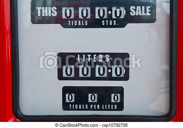 antikvitet, årgång, pump, bensin, drivmedel - csp10792708