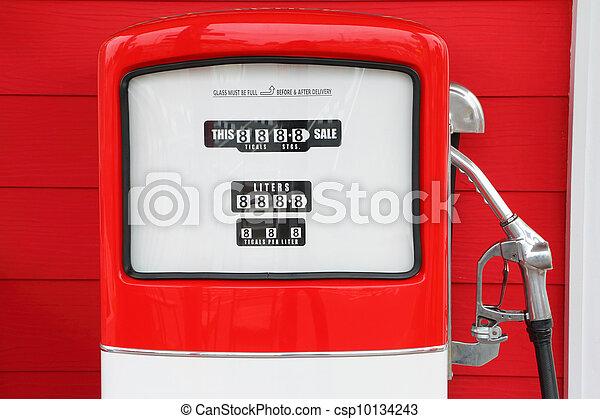 antikvitet, årgång, pump, bensin, drivmedel - csp10134243