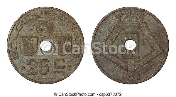 antikvitet, belgien, mynt, sällsynt - csp6370072