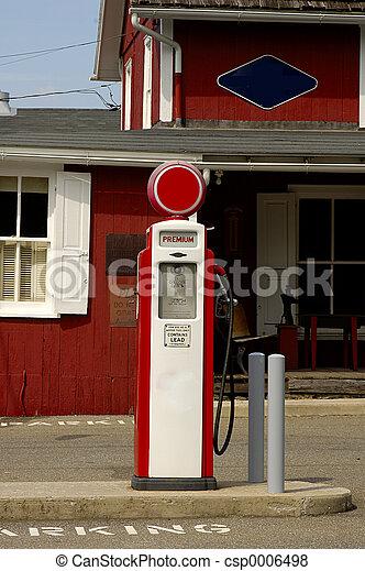 antikvitet, pump, gas - csp0006498