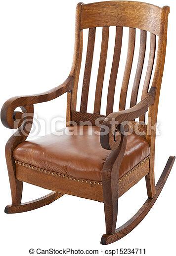antikvitet, rocking stol - csp15234711