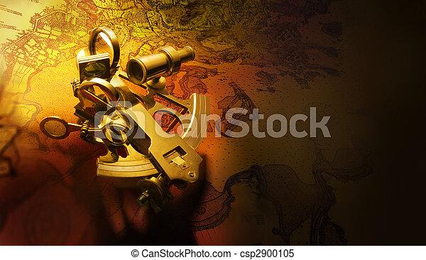 antikvitet, sextant - csp2900105