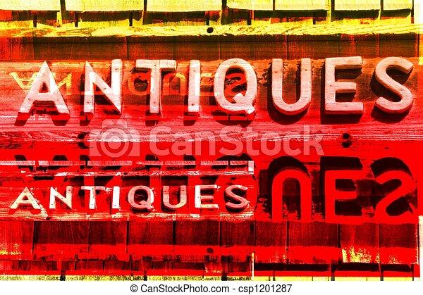 antikviteter, undertecknar - csp1201287