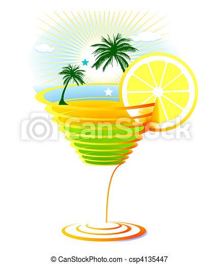 Antilles cocktail - Dessin cocktail ...