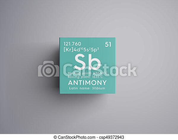 Antimony Stibium Metalloids Chemical Element Of Mendeleevs