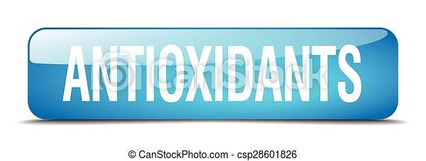 antioxidants blue square 3d realistic isolated web button - csp28601826