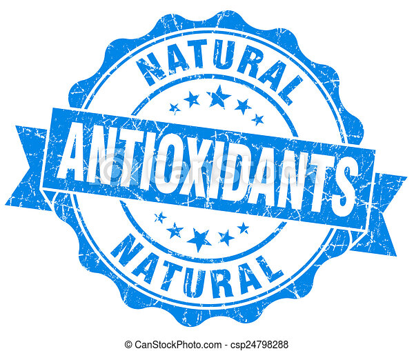 antioxidants blue vintage isolated seal - csp24798288